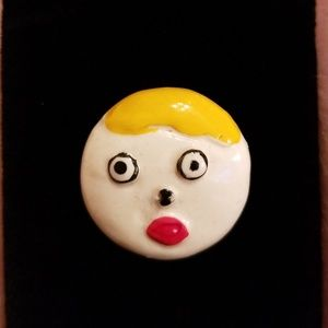 """Oh no!"" Mr. Bill pin from 1981!"